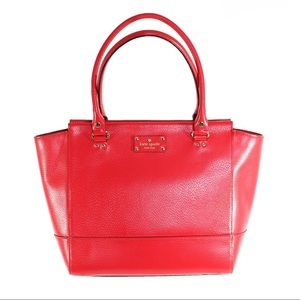 Pre-loved Kate Spade Red Leather Tote